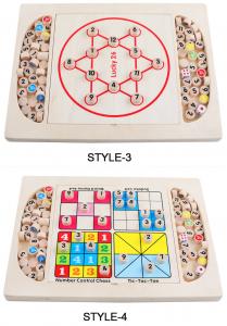 Joc din Lemn Sudoku 4 in 1 - Joc Sudoku Multifuctional din lemn4