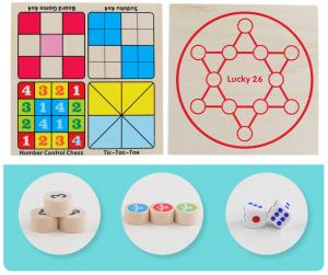 Joc din Lemn Sudoku 4 in 1 - Joc Sudoku Multifuctional din lemn5