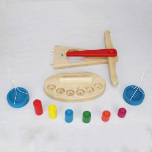 Jucarie de Lemn Montessori Echilibru Blanta cu 6 greutatii3