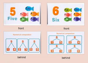 Joc Montessori din lemn Pescuit Magnetic invatare numere6