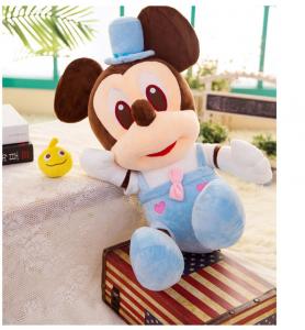 Jucarie de plus Mickey Bleu - Minnie Mouse Roz cu palarie4