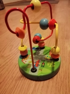 Jucarie din Lemn Labirint cu Bile Mini0
