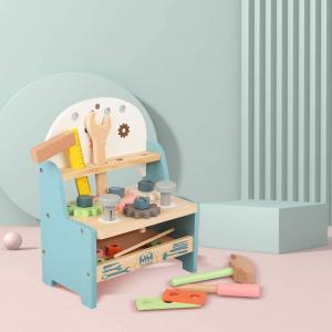 Banc de Scule Pastel  din lemn - Masa lucru copii3