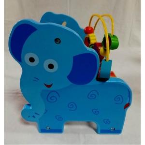 Jucarie educativa 3 in 1 Abac cu bile Elefantel - Catel0