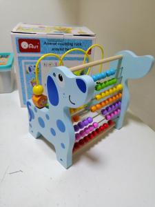 Jucarie educativa 3 in 1( Abac cu bile)Elefantel - Catel5