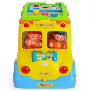 Jucarie Bebe Autobuzul  Scolii Muzical5