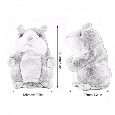 Hamsterul Vorbitor Jucarie interactiva de plus4