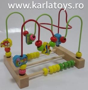 Jucarie  Montessori labirint cu bile si abac2