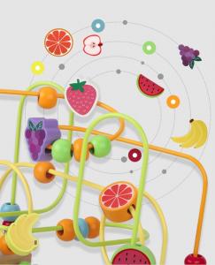 Jucarie Montessori labirint cu bile si abac7