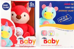 Jucarie plus bebelus cu muzica si proiector Animale Baby Snuki3