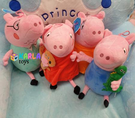 Set 4 jucarii de plus Purcelusa Peppa Pig [5]