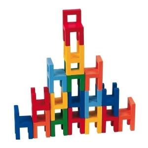 Joc din lemn Echilibru Scaunele colorate Goki1