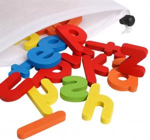 Joc Puzzle Litere din Lemn Mntessori - Puzzle Alfabet din lemn Carti Flash.1