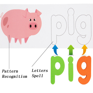 Joc Puzzle Litere din Lemn Mntessori - Puzzle Alfabet din lemn Carti Flash.5