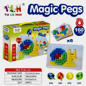 Set Mozaic Magic Pegs 160 piese - Set Creativ Magic Pegs1