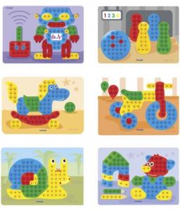 Set Mozaic Magic Pegs 160 piese - Set Creativ Magic Pegs2