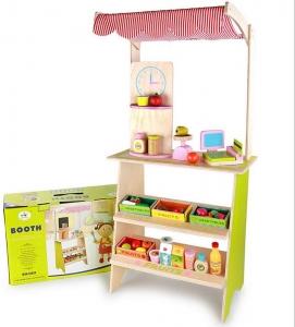 Stand din lemn cu accesorii - Supermarket din lemn  copii0
