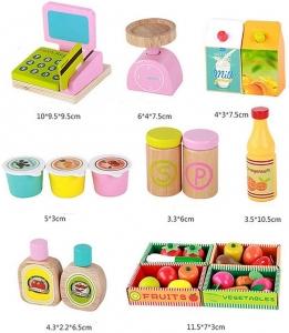 Stand din lemn cu accesorii - Supermarket din lemn  copii4