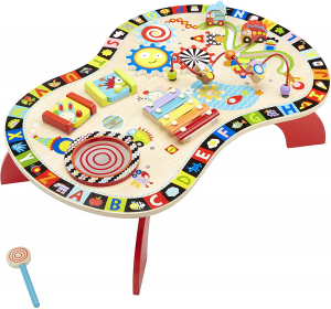 Masuta din Lemn cu Activitatii Educatia Montessori - Masa lemn copii Multifunctionala Alex Jr0