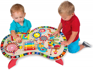Masuta din Lemn cu Activitatii Educatia Montessori - Masa lemn copii Multifunctionala Alex Jr1
