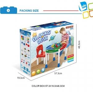 Masa Lego cu 2 Scaune 2 in 1 Compatibila cu Piesele Lego7