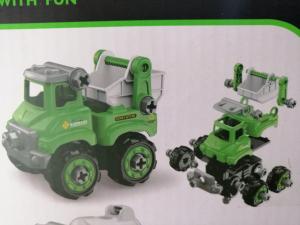 Masinuta de asamblat Masina de gunoi - Masina de pompieri1