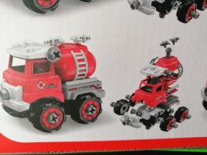 Masinuta de asamblat Masina de gunoi - Masina de pompieri4