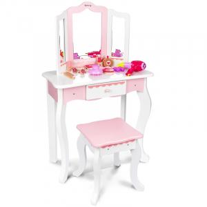 Masuta infrumusetare cu scaunel din lemn Mare0