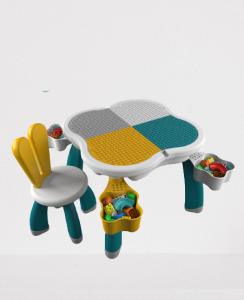 Masuta tip lego duplo cu scaun Iepuras 100 piese mari11