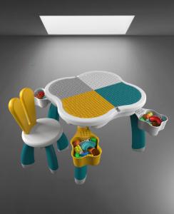 Masuta tip lego duplo cu scaun Iepuras 100 piese mari15