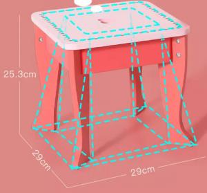 Set Masa de toaleta cu scaun si oglinda pentru fetite din lemn - Masuta infrumusetare copii din lemn1