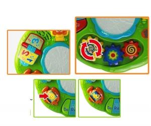 Masuta multifunctionala 2 in 1 Activitati Bebe Green Fun2