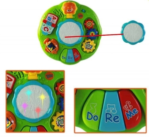 Masuta multifunctionala 2 in 1 Activitati Bebe Green Fun3