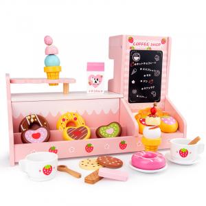 Stand  Lemn Cafenea pentru copii - Mini Magazin deserturi si cafea3