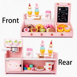 Stand  Lemn Cafenea pentru copii - Mini Magazin deserturi si cafea1