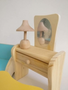 Set Mobilier din lemn pentru papusi dora [3]