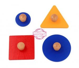 Puzzle Forme Geometrice  Educatia Montessori  Set 4 Puzzle1