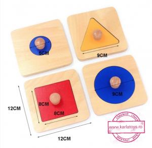 Puzzle Forme Geometrice  Educatia Montessori  Set 4 Puzzle2