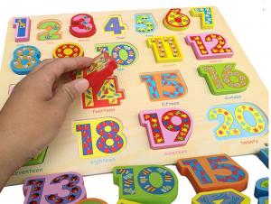 PuzzleLemn 3D Numere Mari In Engleza0