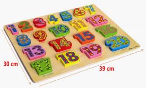 PuzzleLemn 3D Numere Mari In Engleza1