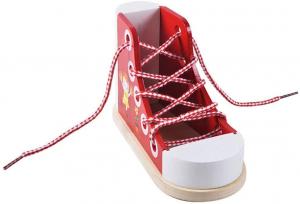Joc Educational din Lemn - Invatam sa Legam Siretul Sneaker1