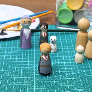 Papusi din Lemn Peg de Pictat set 50 bucati - Set 50 Papusi din Lemn Natur Craft3