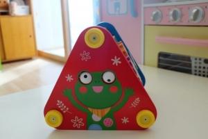 Piramida din lemn 5 in 1 bebe -Joc lemn Piramida 5 in 13
