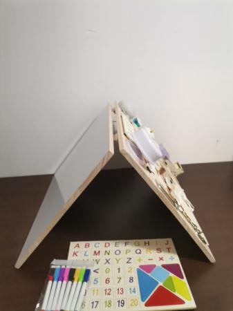 Placa din lemn Montessori Senzoriala Incuietori Busy Board 2 in 1 [11]