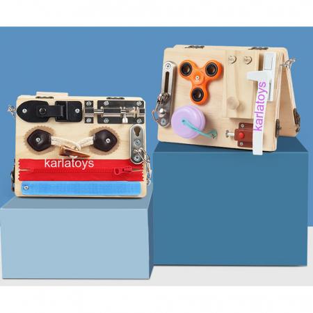 Placa senzoriala Montessori incuietori Busy Board [0]