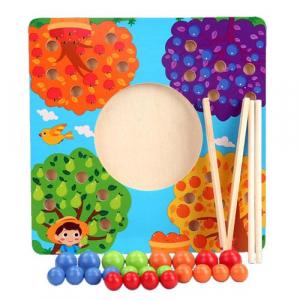 Joc de Lemn Montessori Sortator culori Pomul Fructifer0