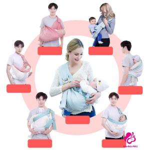 Port Bebe multifunctional Baby Wrap - Marsupiu stil fasa bebe [6]