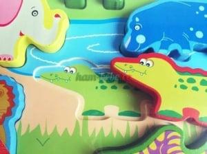 Puzzle lemn 3D Animale Jungla2