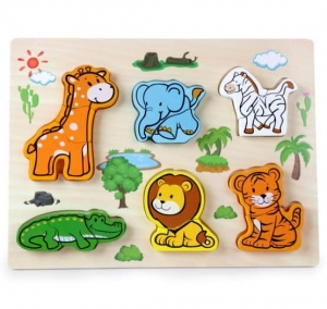 Puzzle Animale Jungla 3 d  din 2 parti0