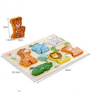 Puzzle Animale Jungla 3 d  din 2 parti1